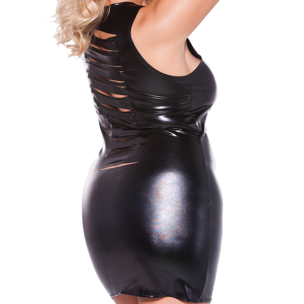 Risque Kitten Dress Black Queen Size - View #4