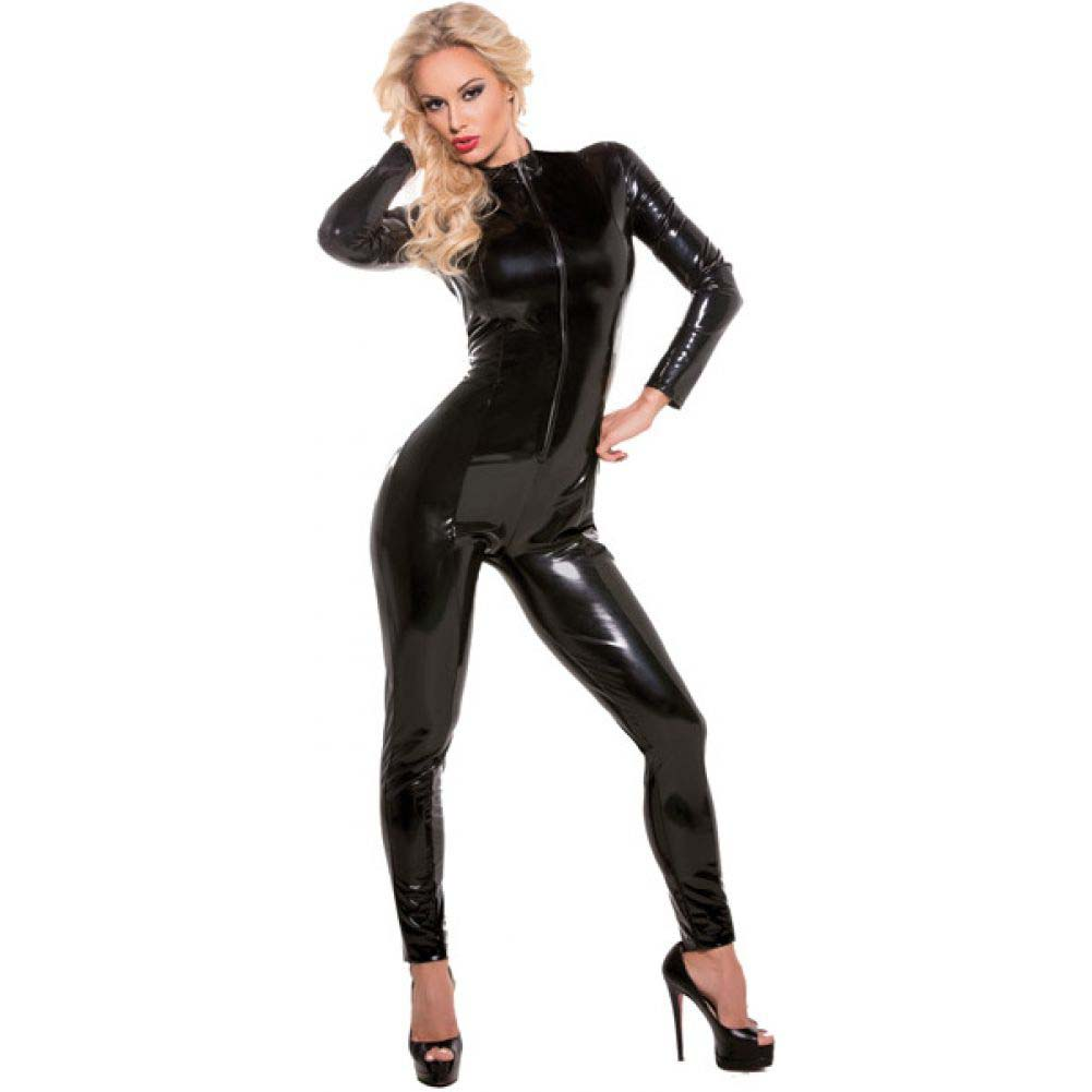 Second Skin Whiplash Catsuit Black Small Medium - View #1