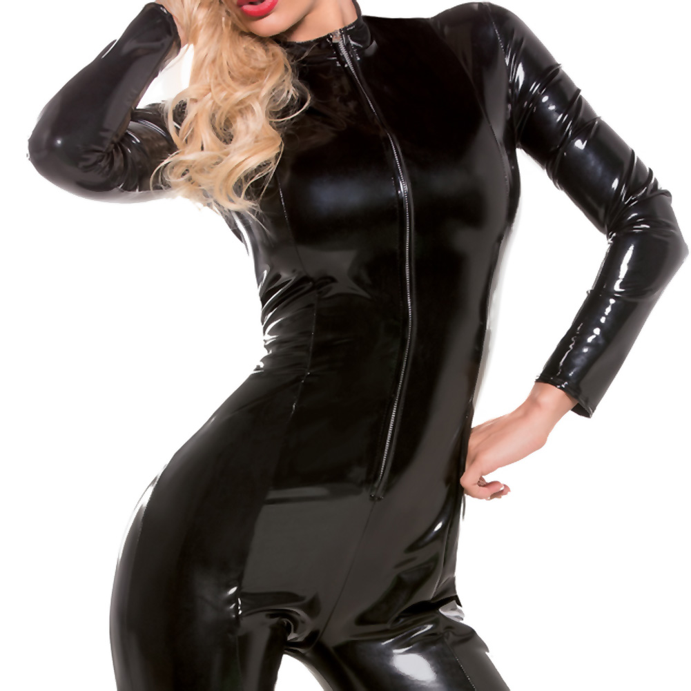 Second Skin Whiplash Catsuit Black Small Medium - View #3