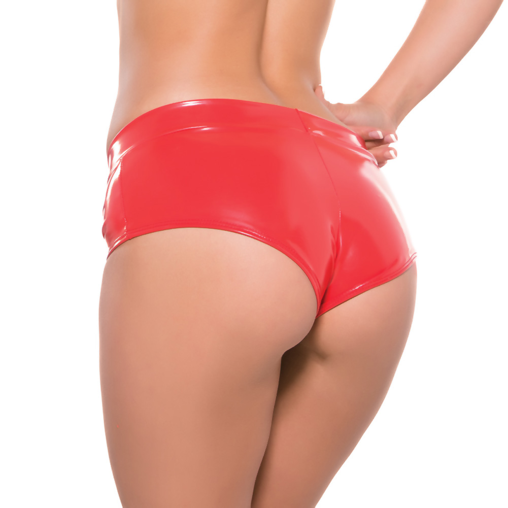 Second Skin Red Hot Short Shorts Red Small Medium - View #2