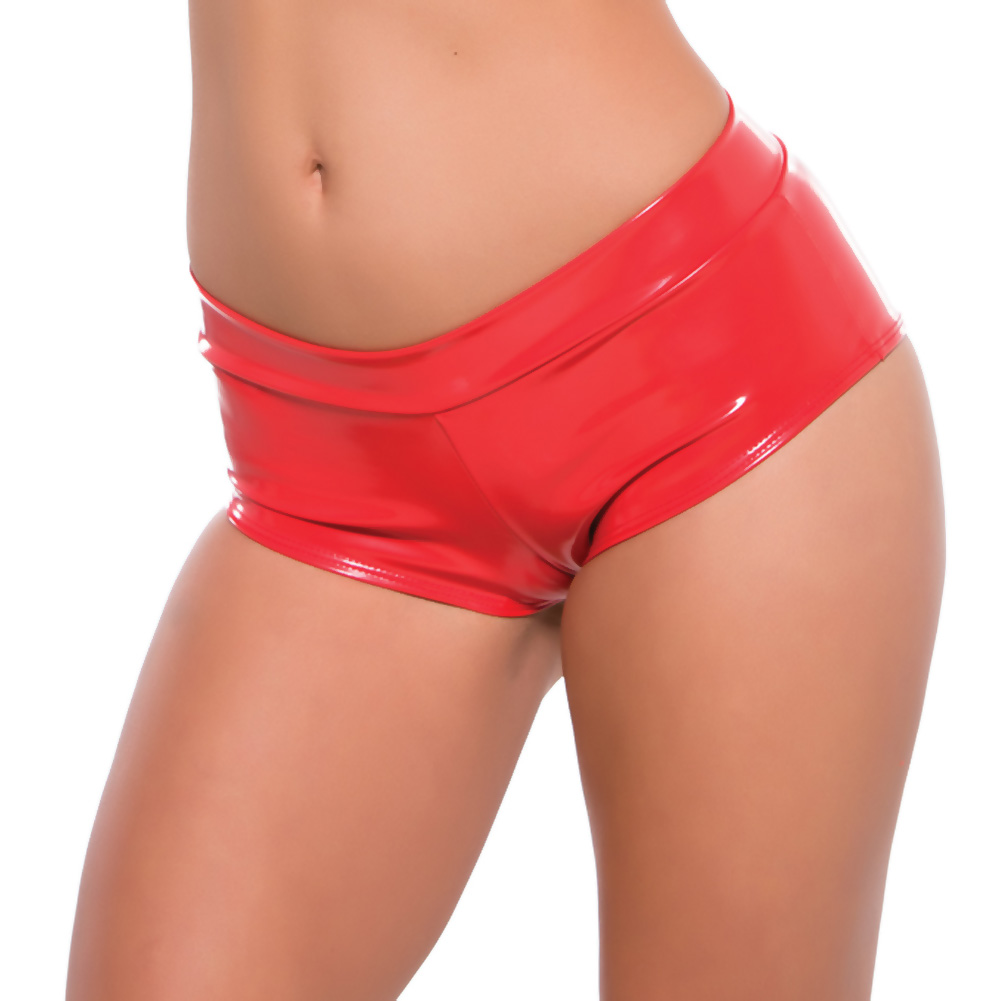 Second Skin Red Hot Short Shorts Red Large Extra Large - View #1