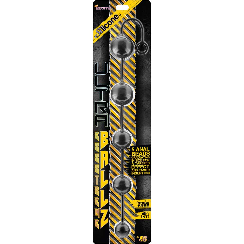 SI Novelties Ultra Silicone Extreme Balls Black - View #1
