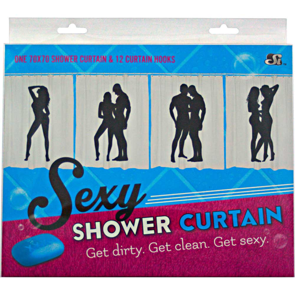 SI Novelties Sexy Female Solo Shower Curtain - View #3