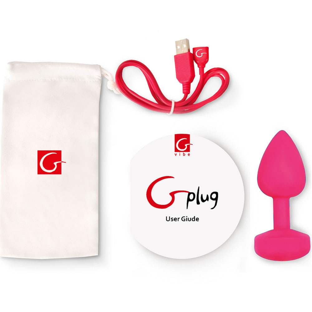 "Fun Toys Small Vibrating Rechargeable G Plug 3"" Rose Pink - View #3"