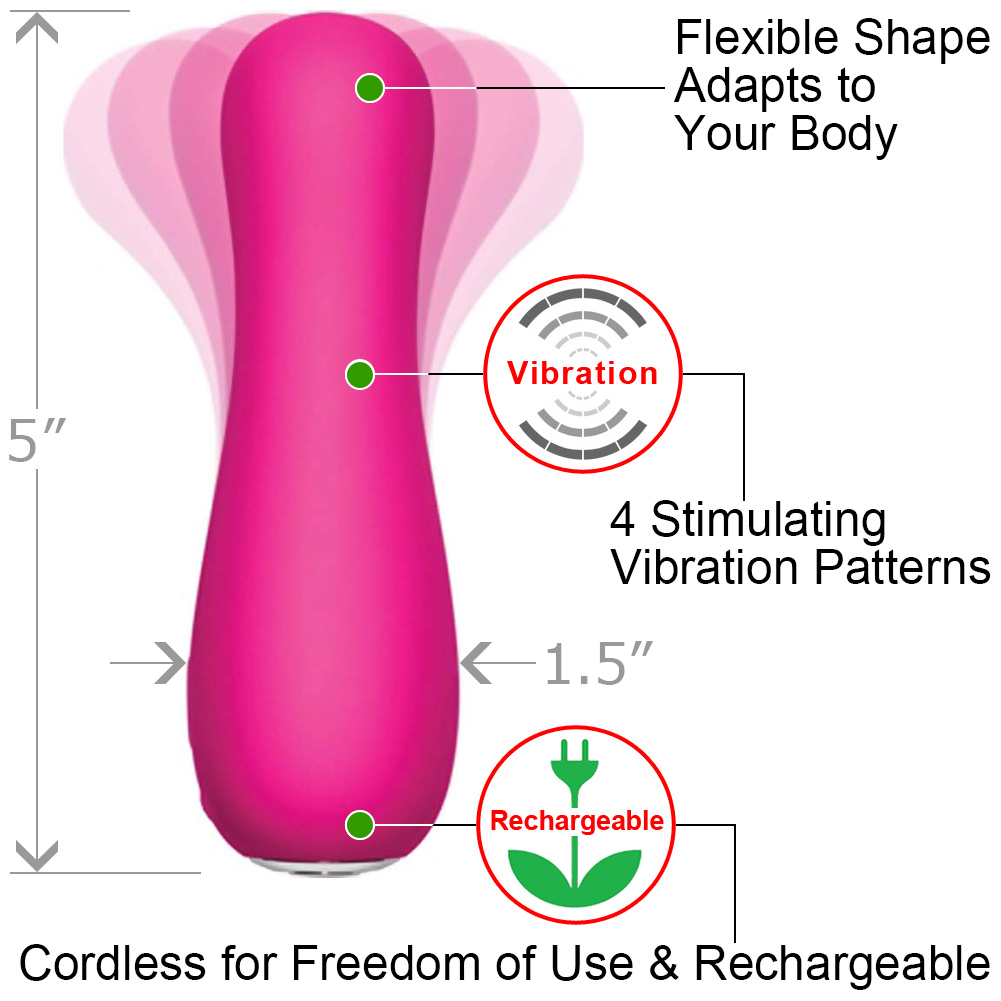 "Jimmyjane Form 4 Waterproof Rechargeable Vibrator 5"" Pink - View #1"