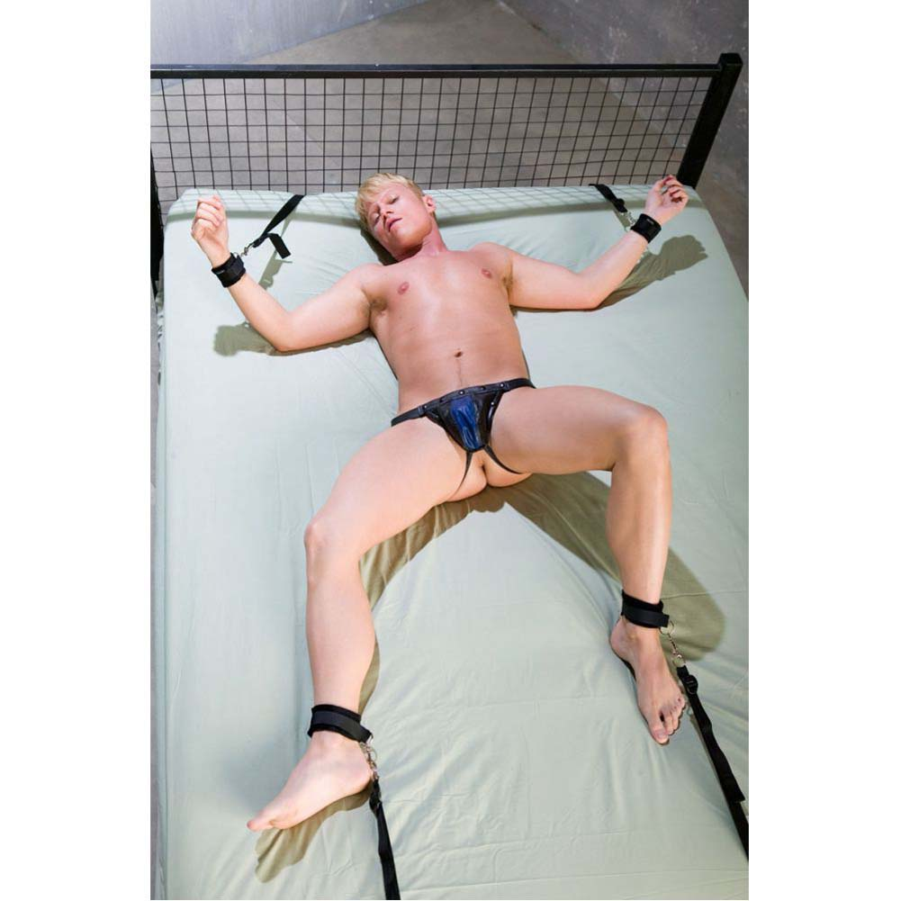 Sportsheets Manbound Under the Bed Restraint Gear Black - View #1