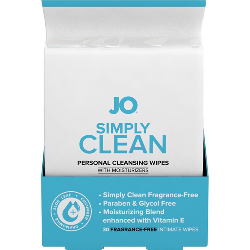 System JO Personal Cleansing Wipes Extra Clean Pack of 30 - View #1