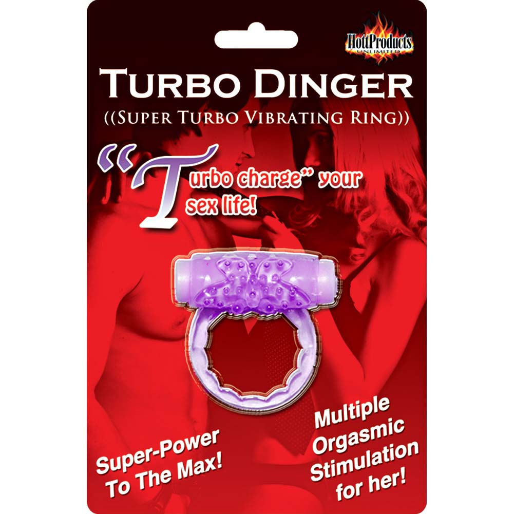 Hott Products Humm Dinger Turbo Vibrating Ring Violet - View #1