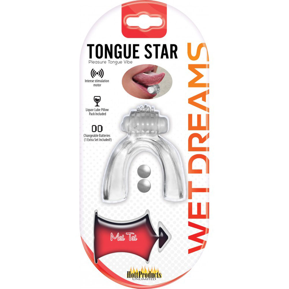 Hott Products Tongue Star Tongue Vibe Clear 10 Ml Liquor Lube - View #3