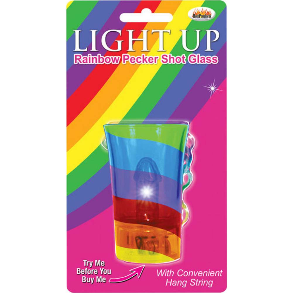 Hott Products Light Up Rainbow Pecker Shot Glass Clear - View #1