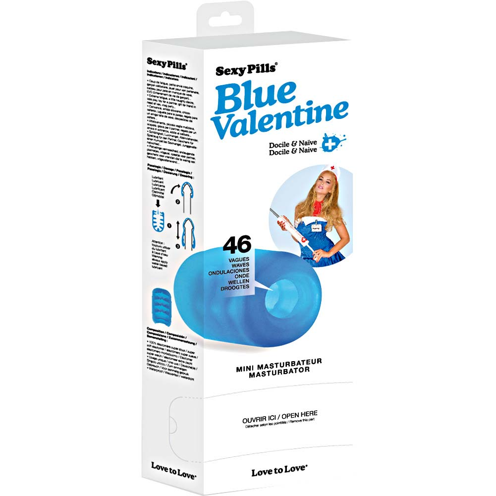 Love to Lovel Sexy Pills Mini Masturbator Box Of 6 Strokers Blue Valentine - View #4