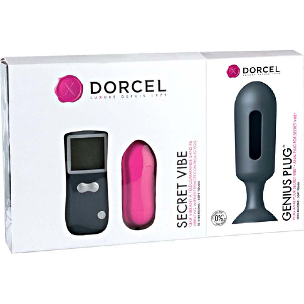 Dorcel Remote Genius Secret Vibrating Egg with Anal Plug Black - View #1