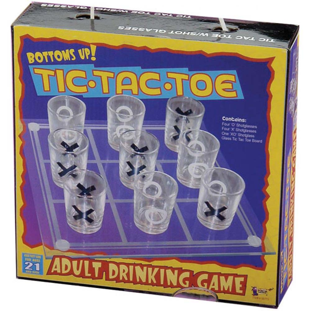 Bottoms Up Tic Tac Toe Drinking Game - View #1