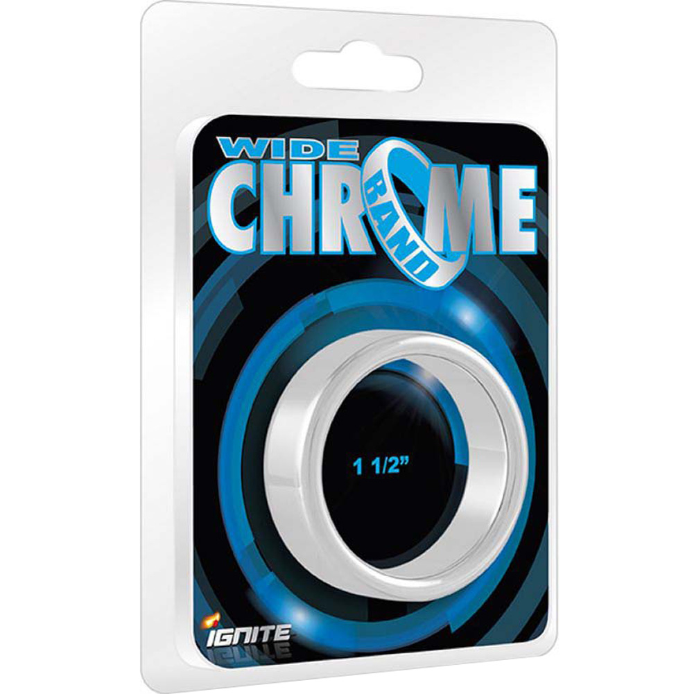 "Si Novelties Chrome Band Wide 1.5"" 38 Mm - View #1"