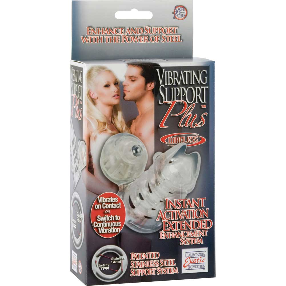 California Exotics Vibrating Support Plus Extended Enhancement System Clear - View #4