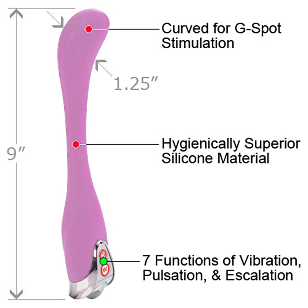 "E.V.A Extreme Vibrating Action Silicone Personal Massager 9"" Blushing Pink - View #1"