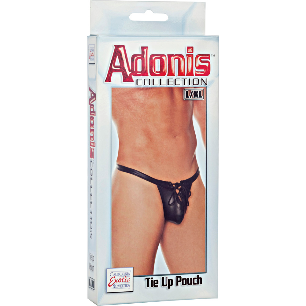 Adonis Collection Tie Up Pouch Large/Extra Large Black - View #3