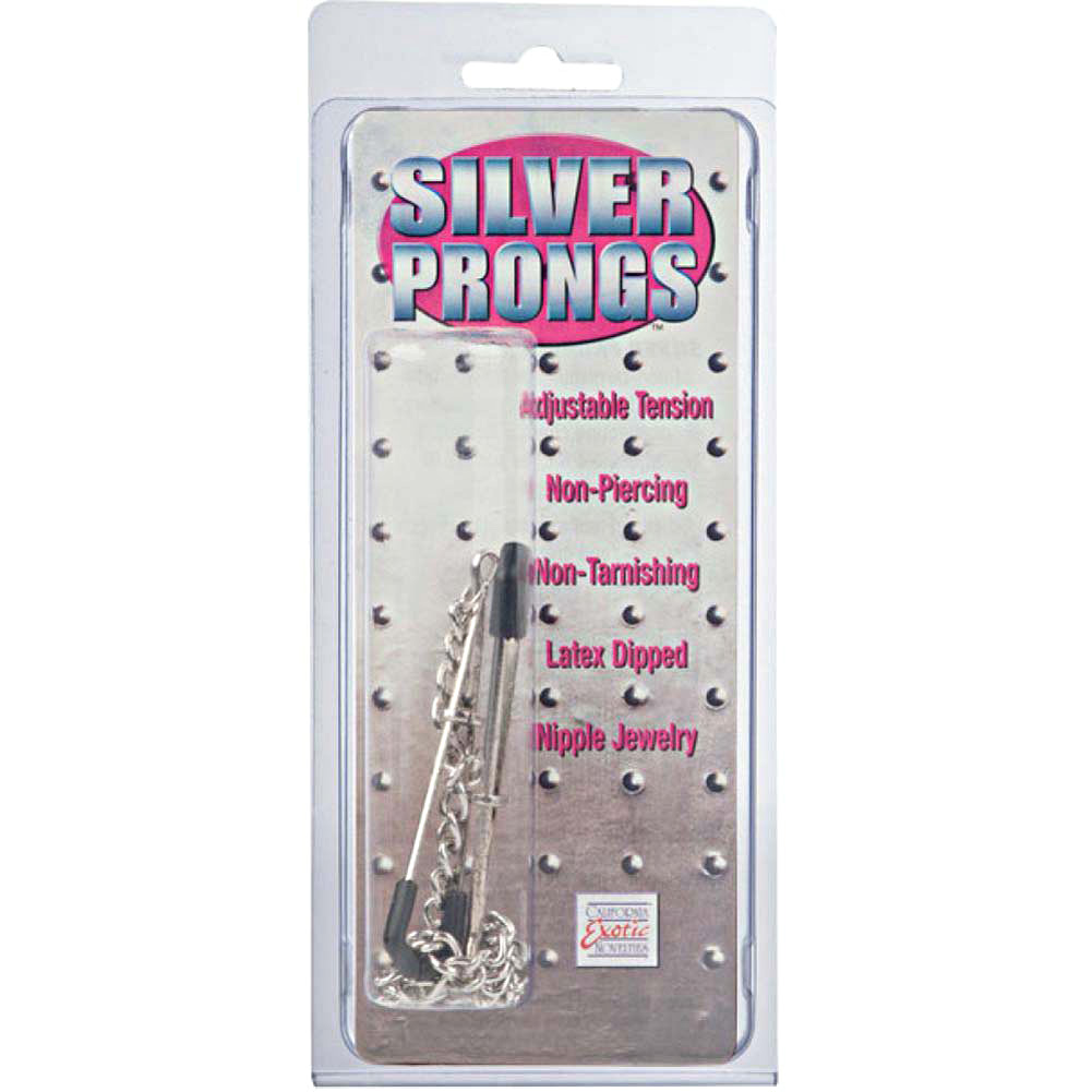 California Exotics Prong Nipple Jewelry Silver - View #1
