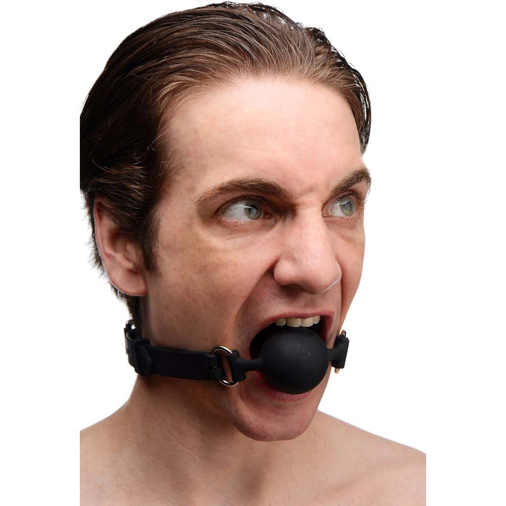 Master Series Suppressor Silicone Face Banger Gag Black - View #3