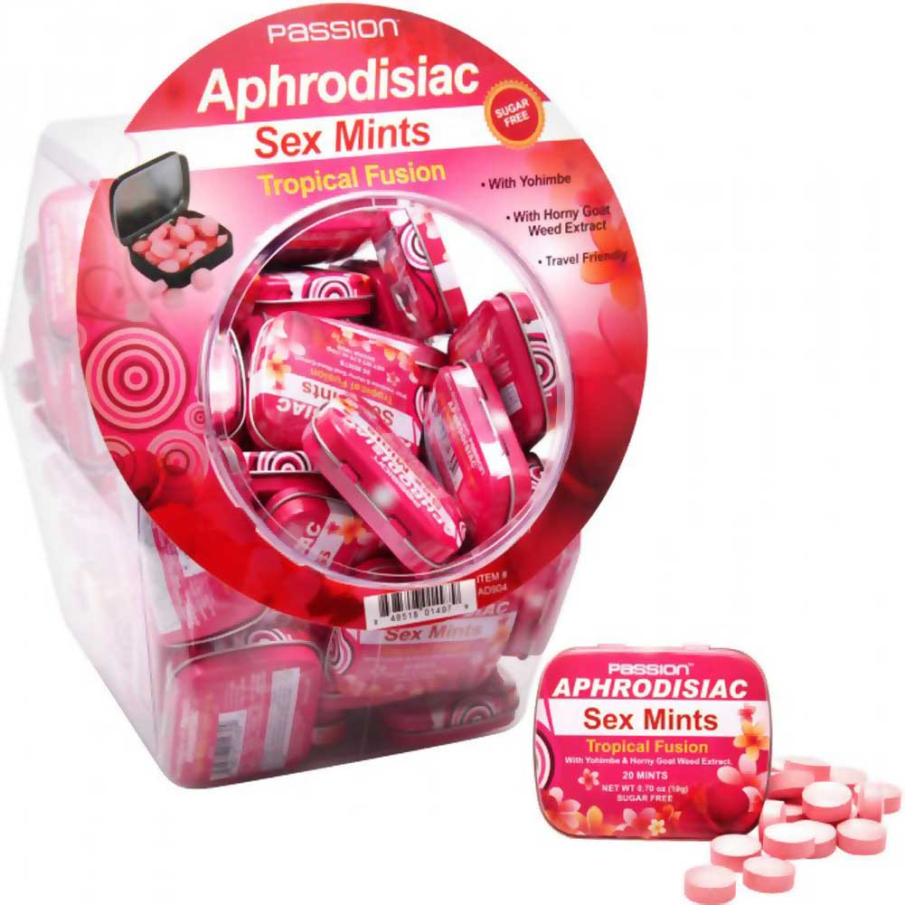 Tropical Fusion Aphrodisiac Sex Mints 60 Piece Fishbowl Display - View #2