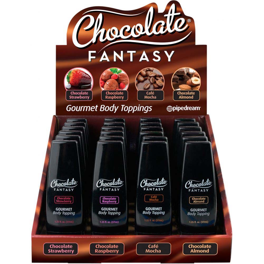 Chocolate Fantasy Mini Bottles 24 Piece Display Case 1.25 Fl. Oz. 37 mL Each - View #2