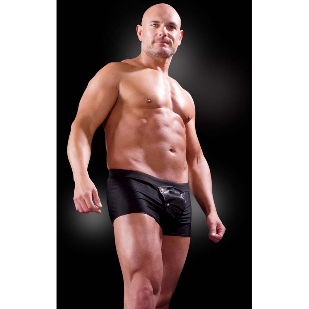 Fetish Fantasy Lingerie Beefy Brief with Built-in Cock Ring Large/Extra Large Black - View #1