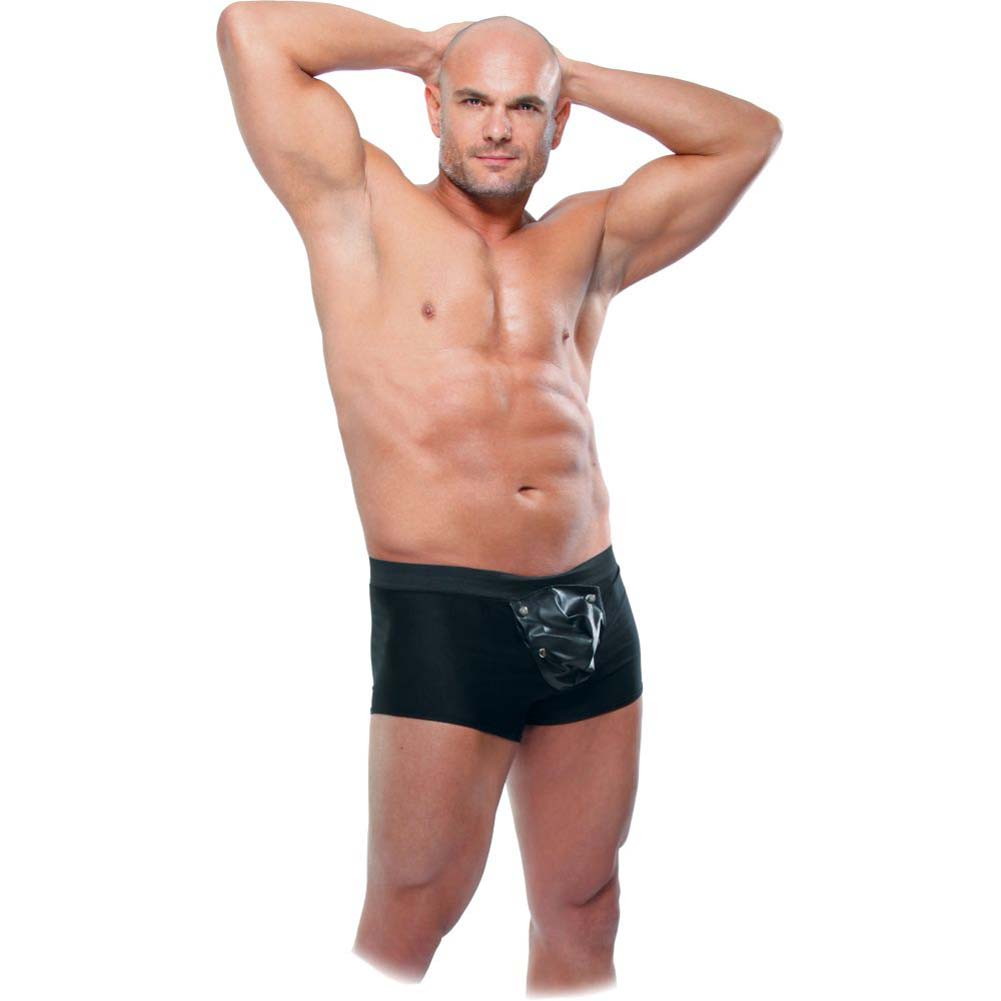 Fetish Fantasy Lingerie Beefy Brief with Built-in Cock Ring Large/Extra Large Black - View #3
