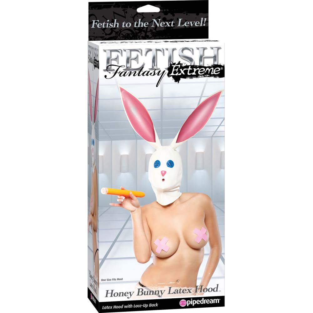 Fetish Fantasy Extreme Honey Bunny Latex Hood White - View #4