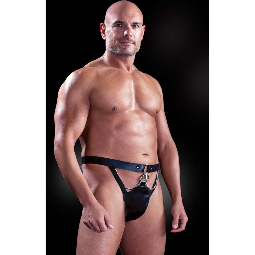 Fetish Fantasy Lingerie Chastity Belt with Locks and Keys Black Large Extra Large - View #1