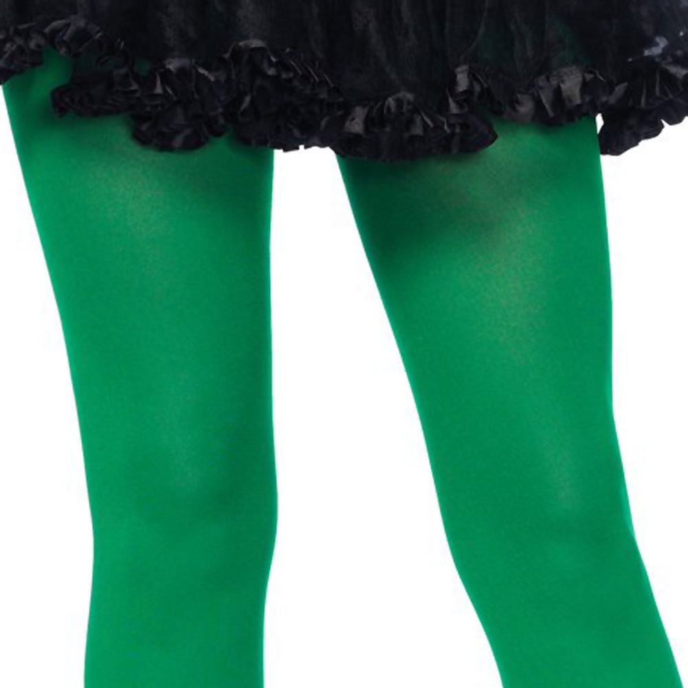 Leg Avenue Nylon Opaque Tights One Size Kelly Green - View #2