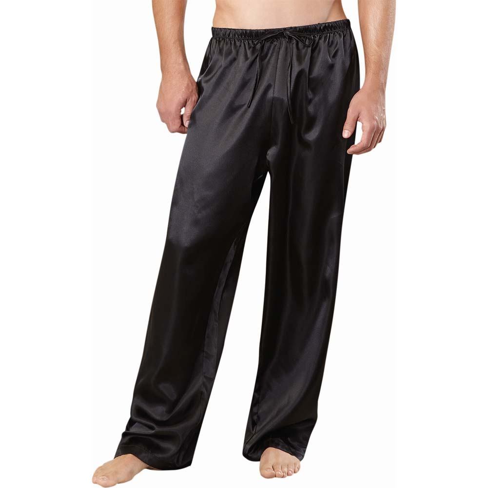 Charmeuse Drawstring Pant Black Xxl - View #1