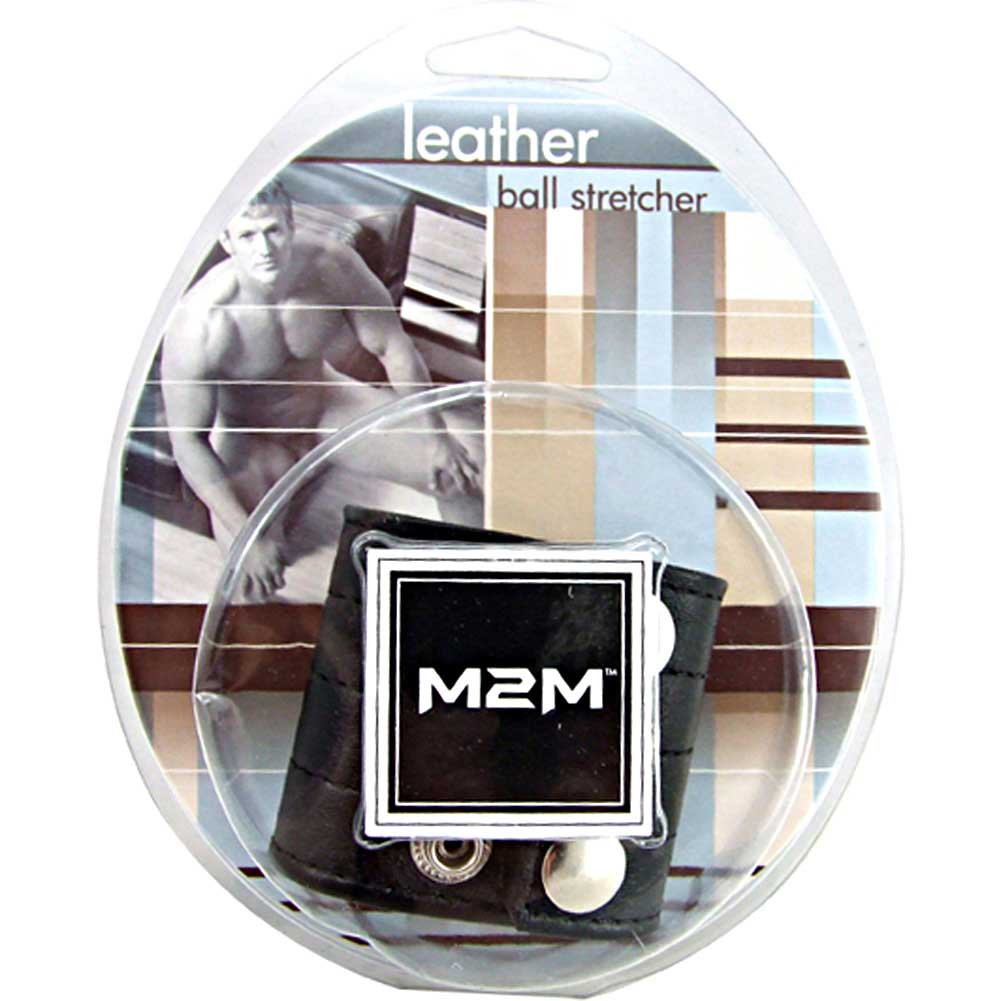 "M2M Leather Ball Stretcher for Men 2"" Black - View #1"