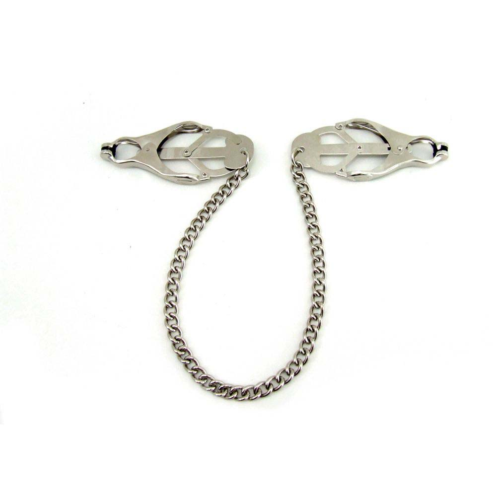 Heart 2 Heart Jaws Tweezer Clamps with Chain Chrome - View #4