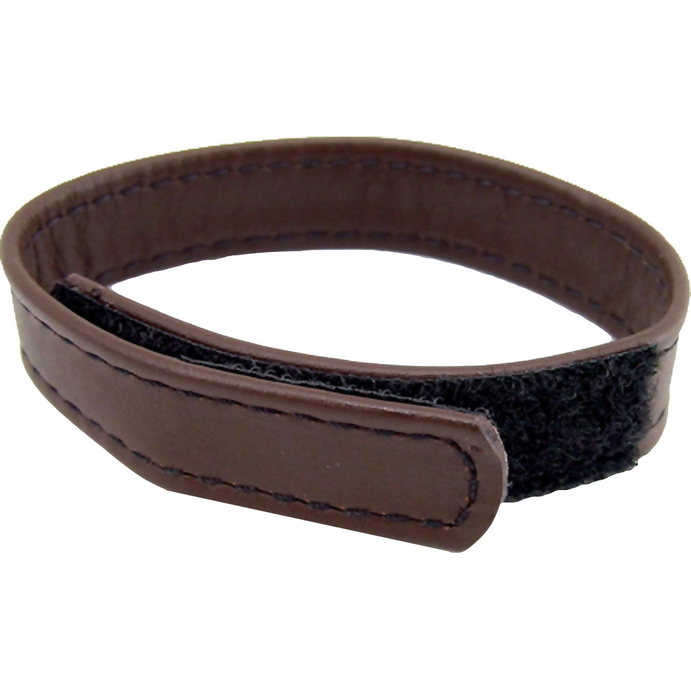M2m Cock Ring Leather Velcro Brown - View #2