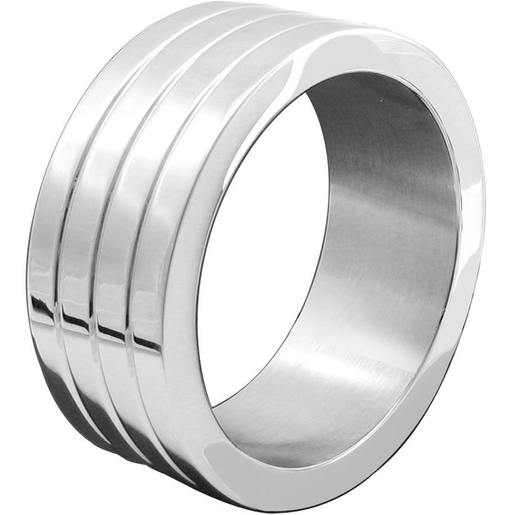 "Heart 2 Heart Mega Wide Banded Cock Ring 1.875"" Stainless Steel - View #2"