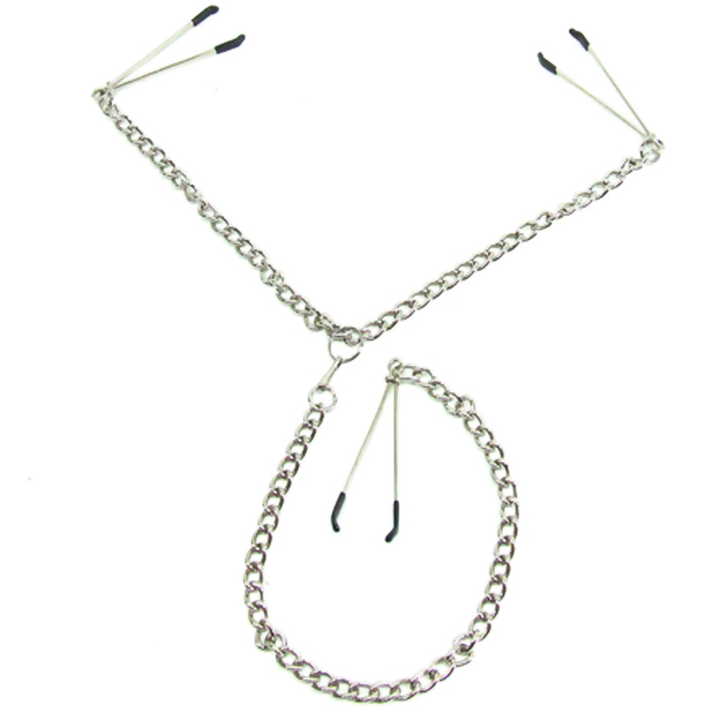 H2h Nipple Clamps Y 3 Tweezers Chrome - View #3