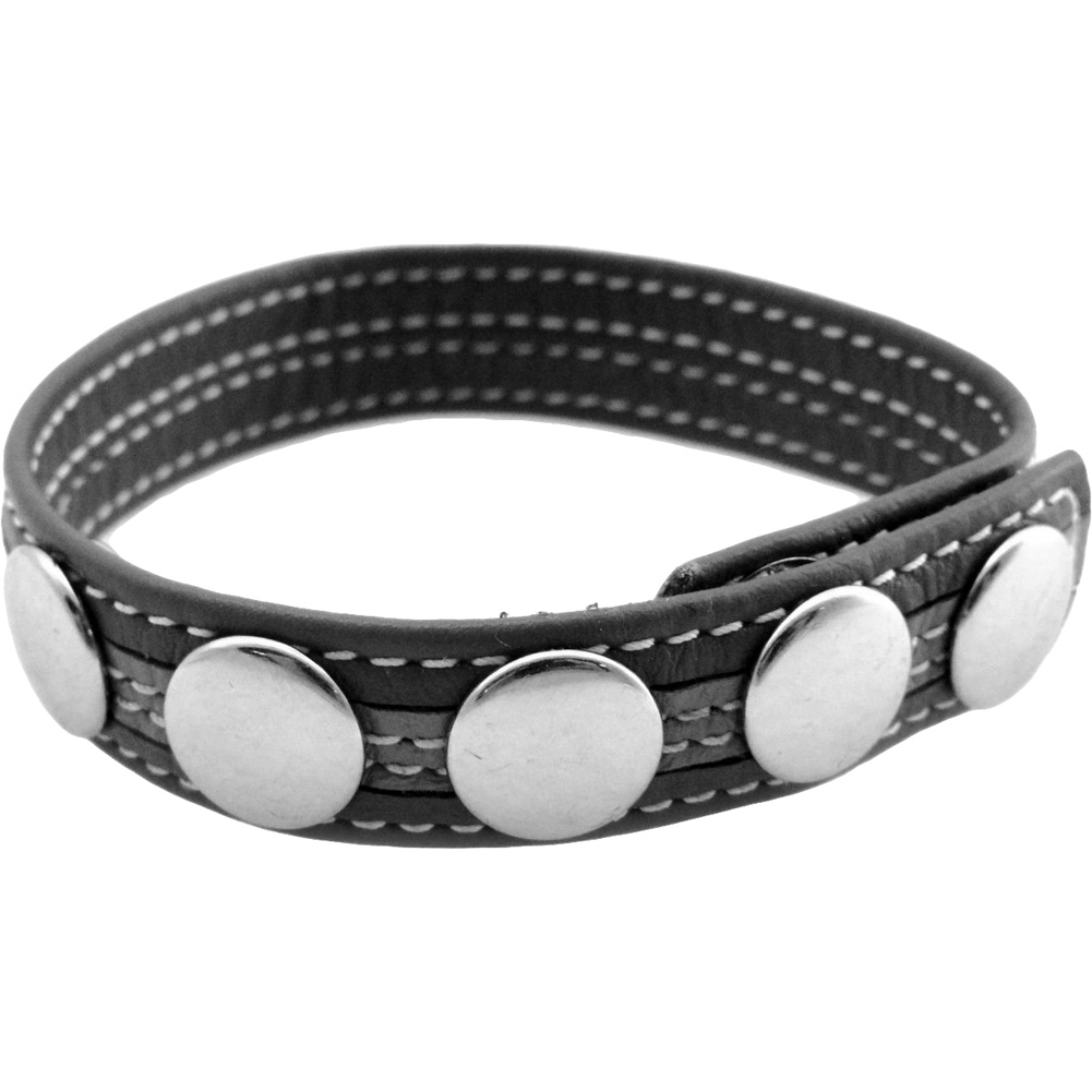 M2M Leather Five Snap C-Ring for Men Grey - View #1