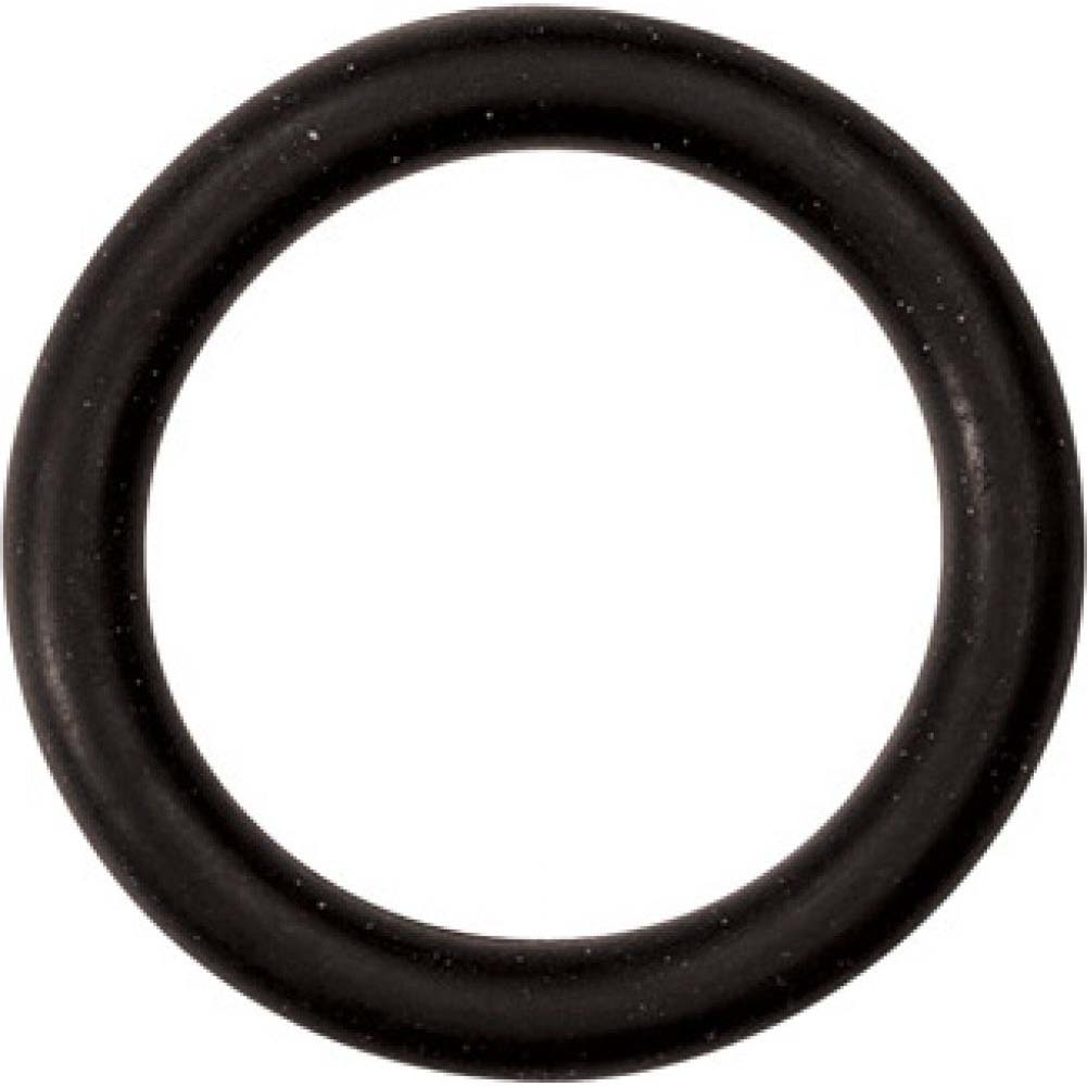 "M2m Nitrile Cock Ring 1.25"" Black - View #2"