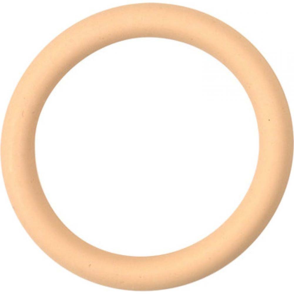 "M2m Nitrile Cock Ring 1.50"" Nude - View #2"