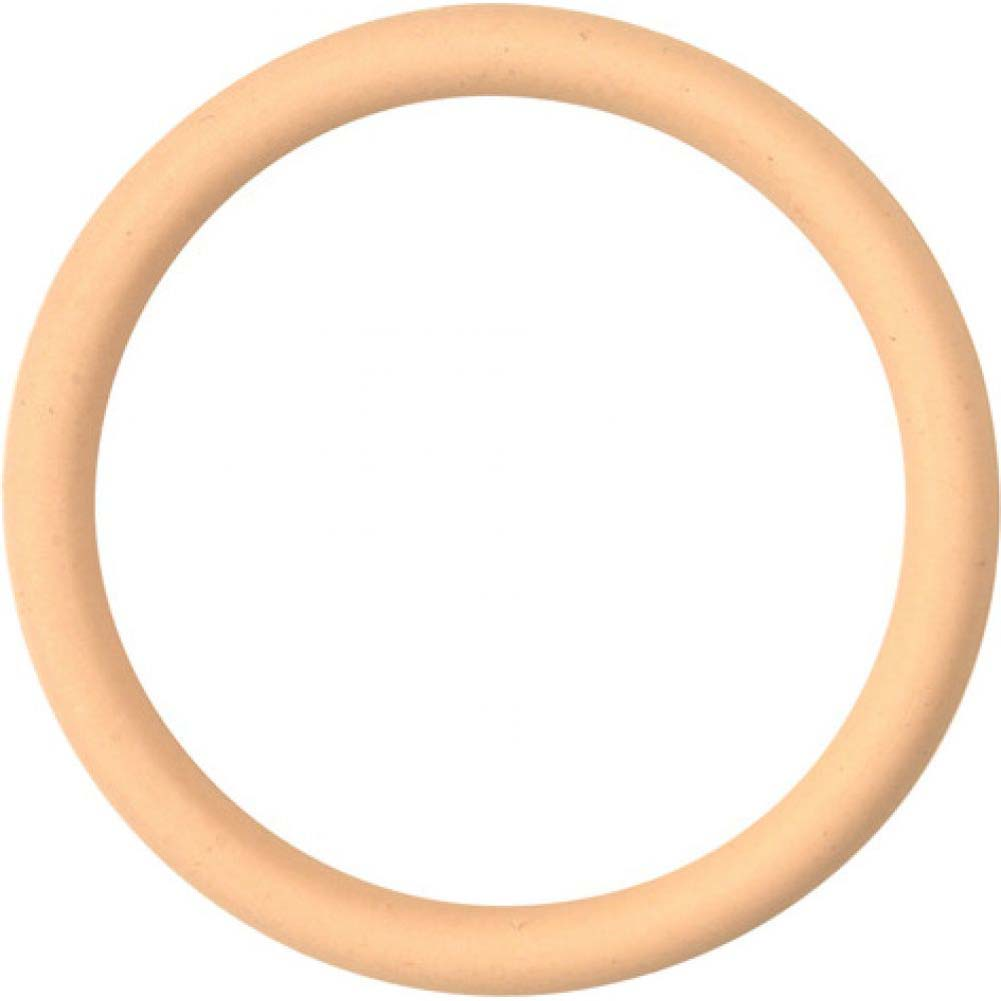 "M2m Nitrile Cock Ring 2.00"" Nude - View #2"