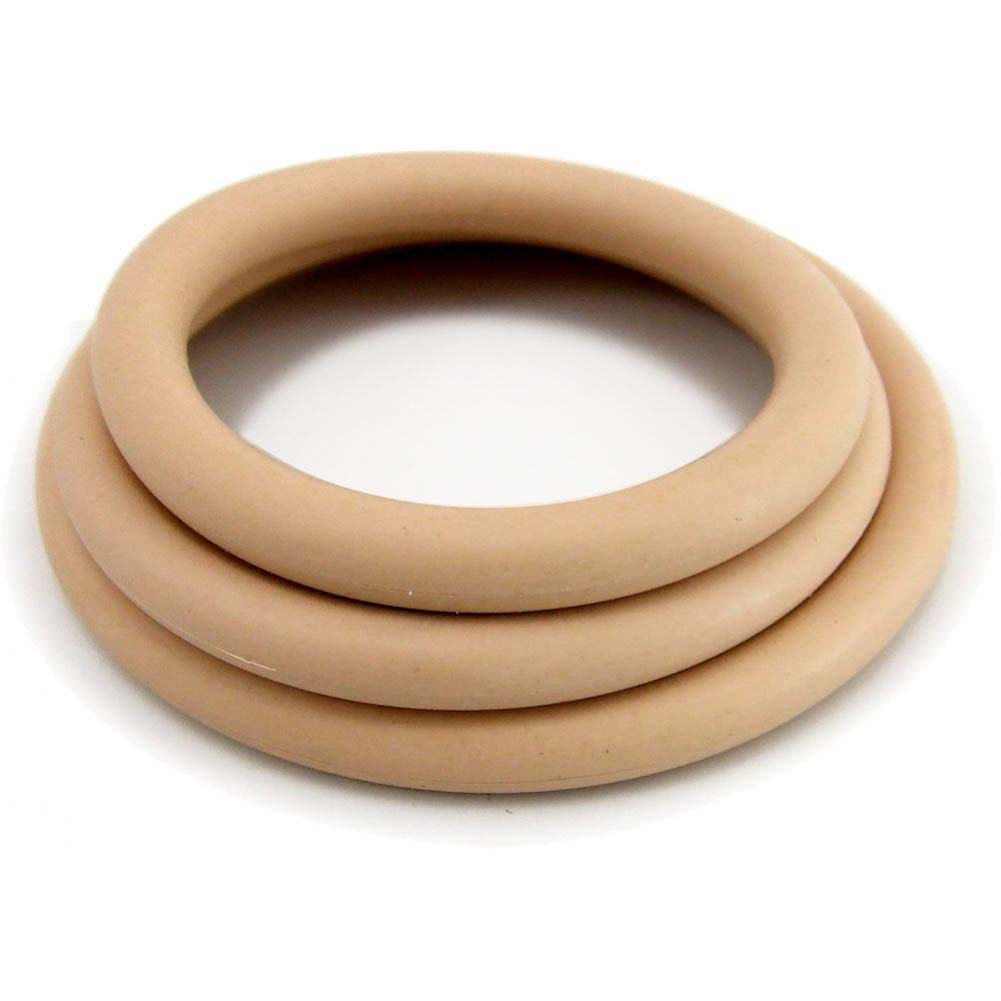M2M Nitrile Cock Ring 3 Piece Pack Nude - View #3
