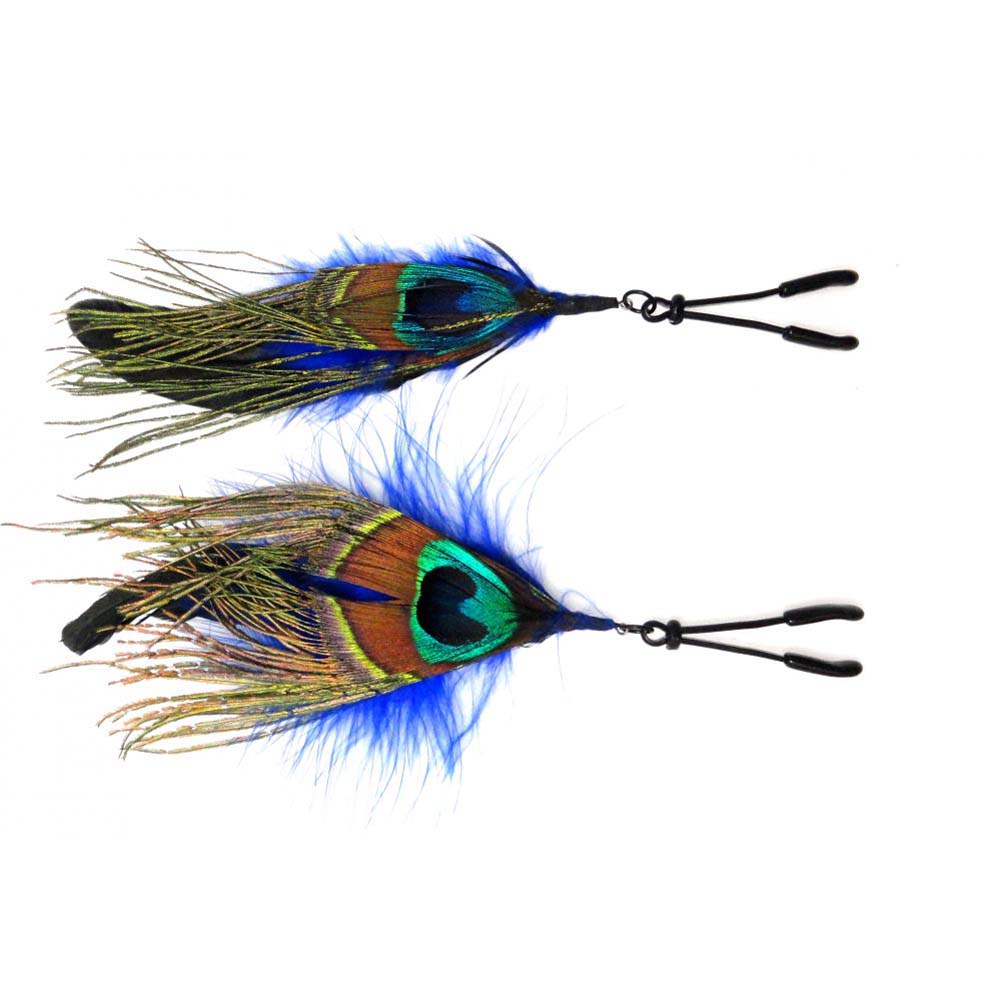 Bijoux de Nip Colored Feather with Black Wide Tweezer Clamp - View #2