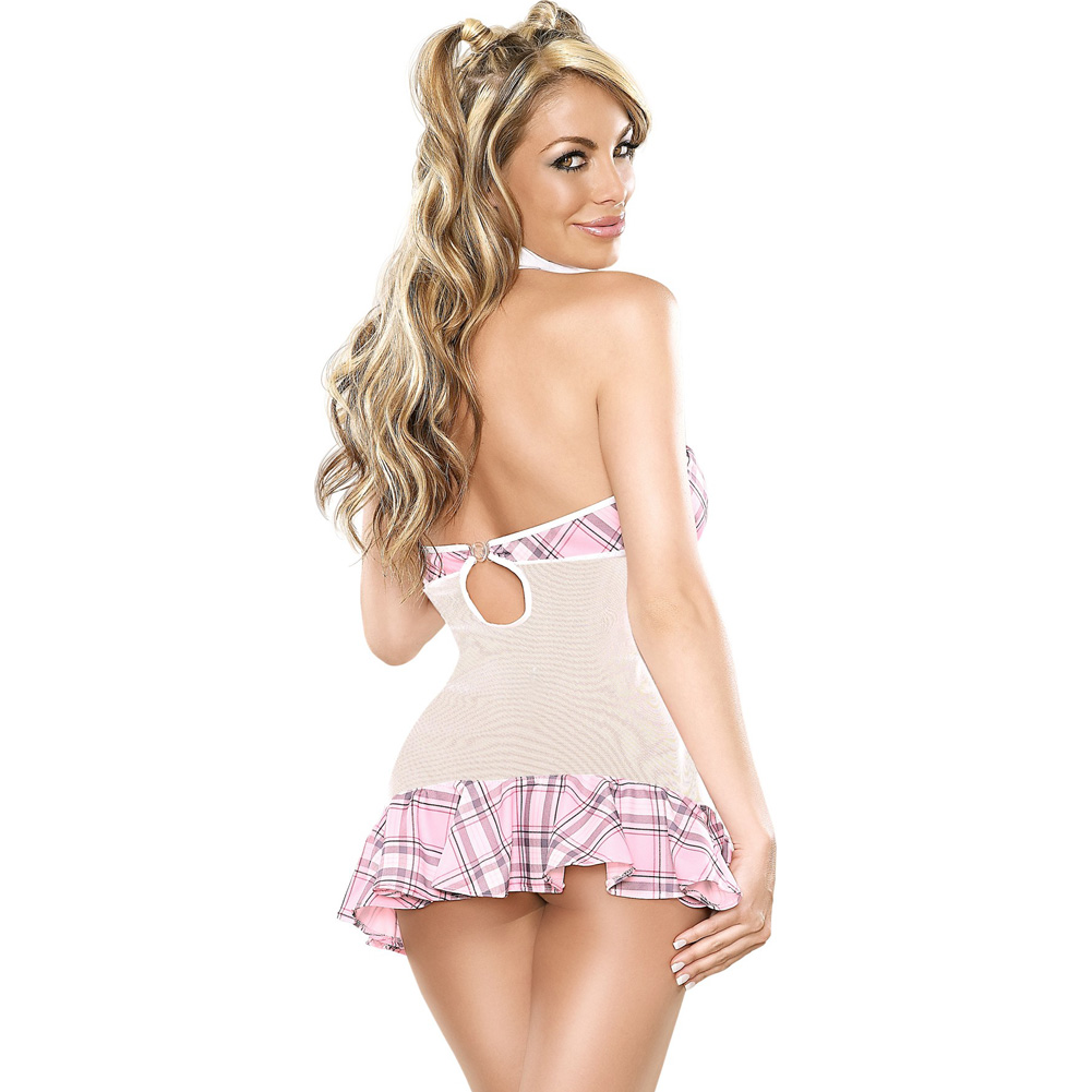 Magic Silk Coed Cutie Dress Bedroom Fantasy Costume Large/Extra Large Pink - View #2