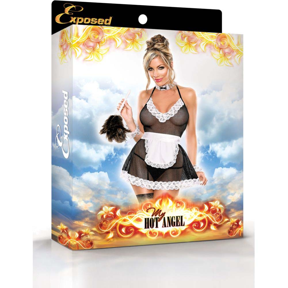 Exposed Chamber Maid Bedroom Fantasy Costume Large/Extra Large Black/White - View #3