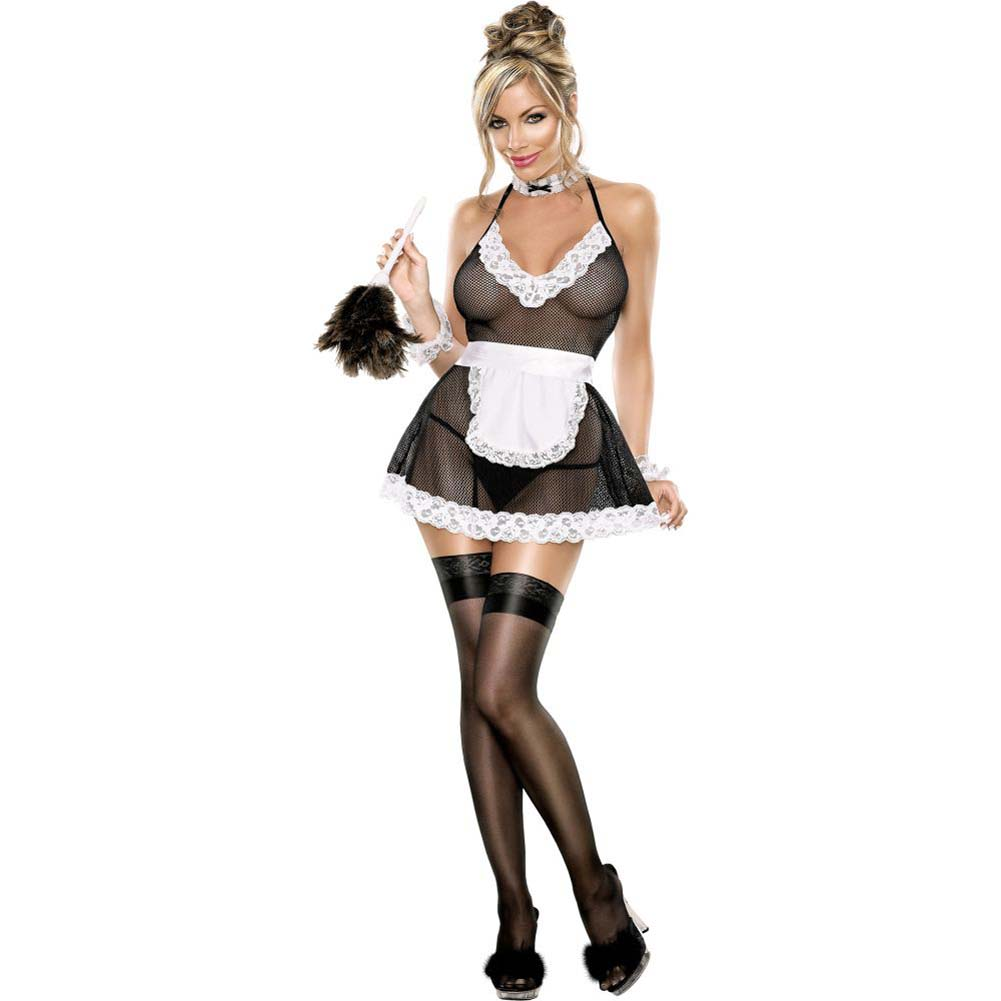 Exposed Chamber Maid Bedroom Fantasy Costume Small/Medium Black/White - View #4