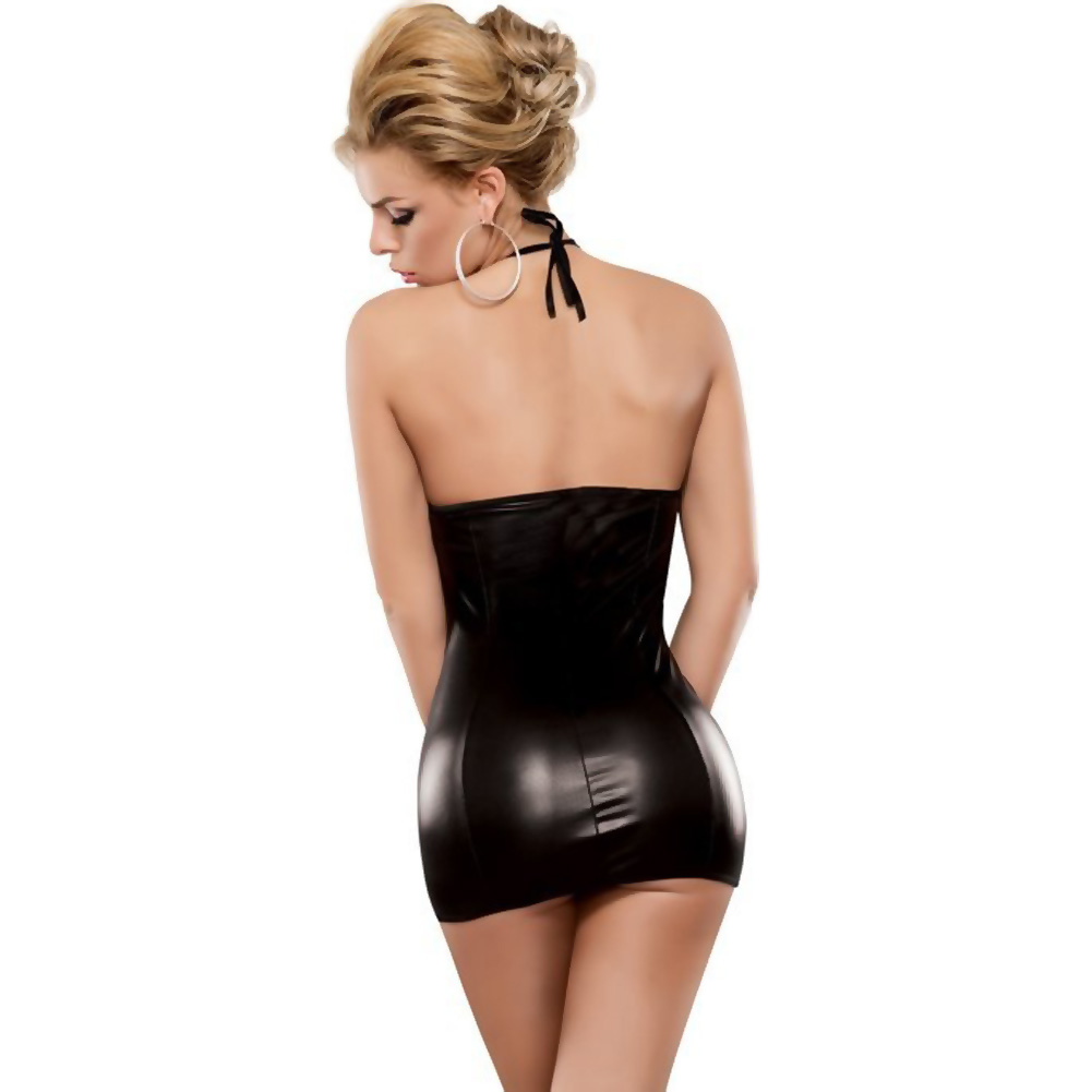 Magic Silk Liquid Onyx Front Ring Dress and G-String Small/Medium Black - View #2