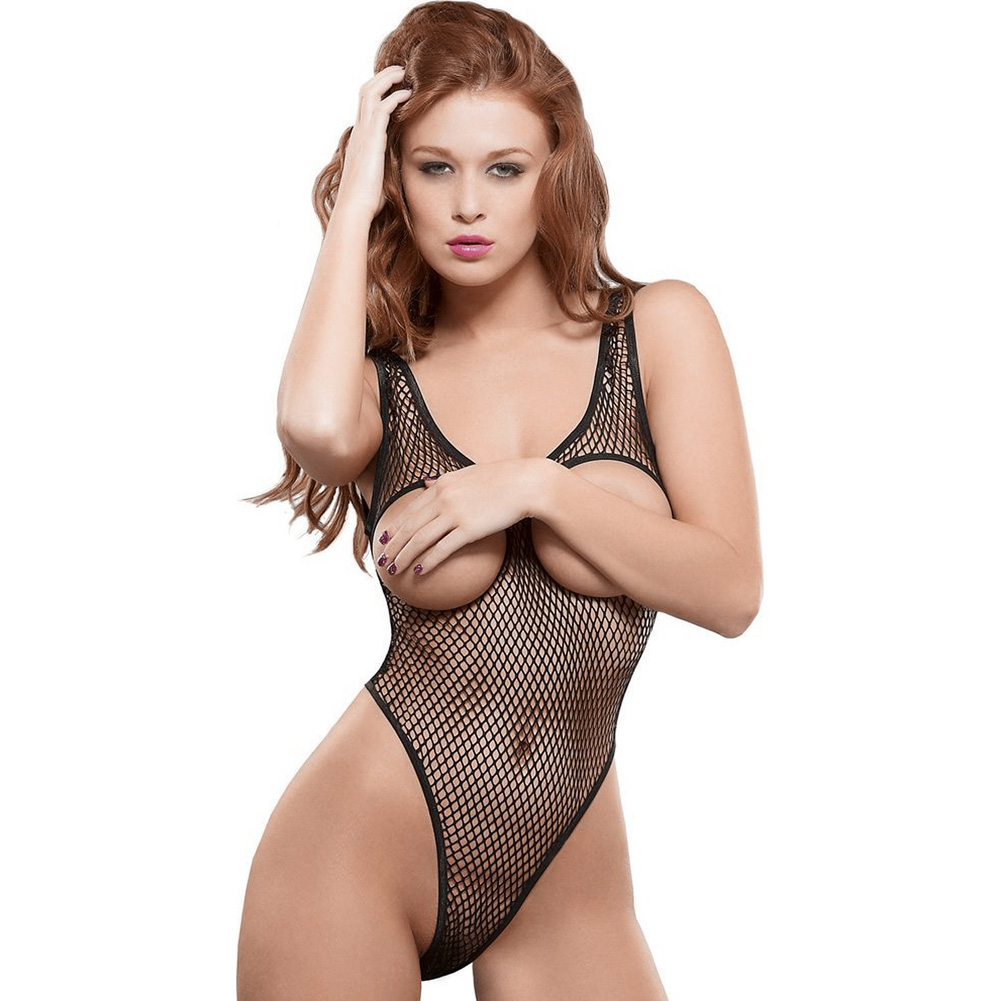 Fishnet Cupless Teddy Small Medium - View #1