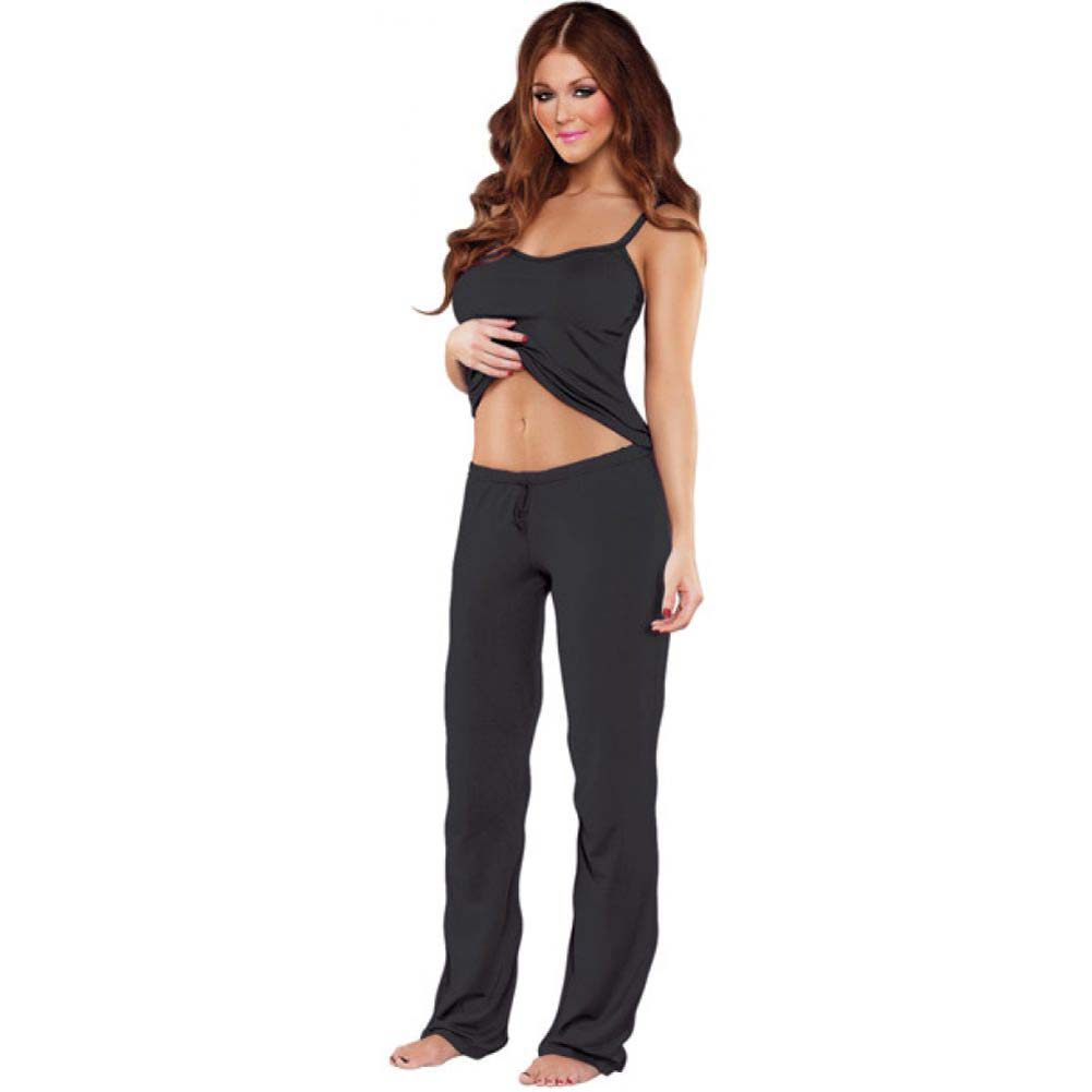 Bamboo Magic Lounge Pant Black Small - View #2