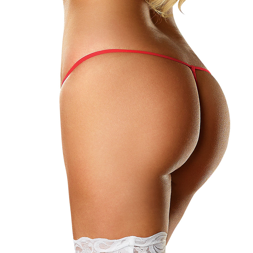 Magic Silk Omgstrings Critical Care Nurse G-String One Size White/Red - View #2