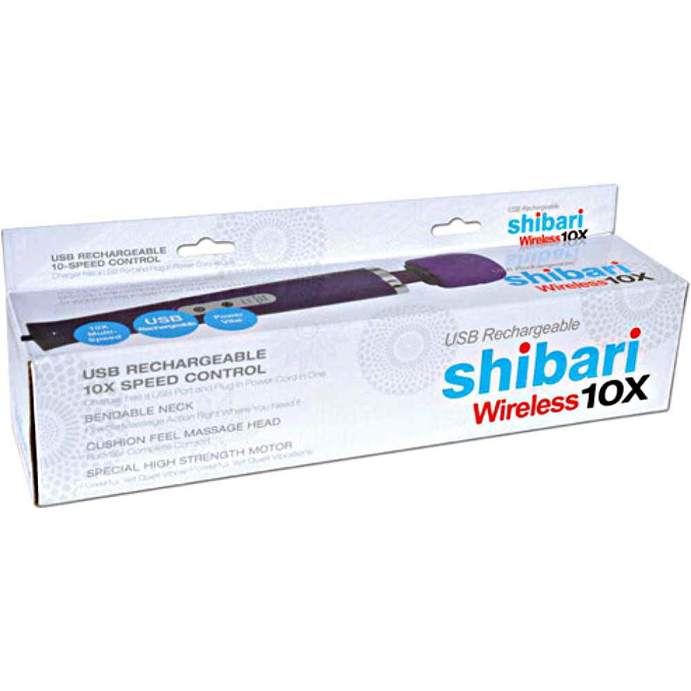 Shibari My Wand Wireless Rechargeable 10 Speed Personal Massager Purple - View #3